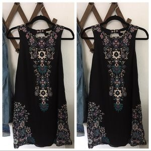 Ecote Black Motif dress (Urban Outfitters)